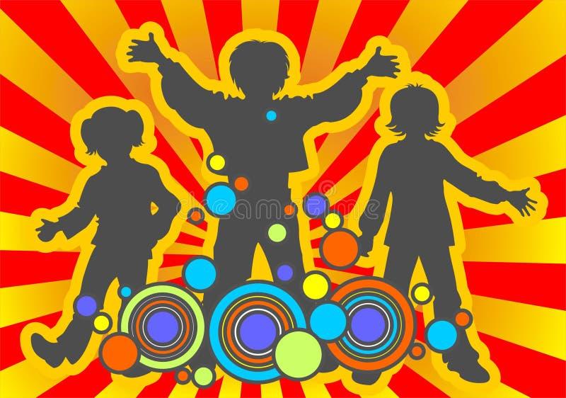 Kinderen en patroon stock illustratie