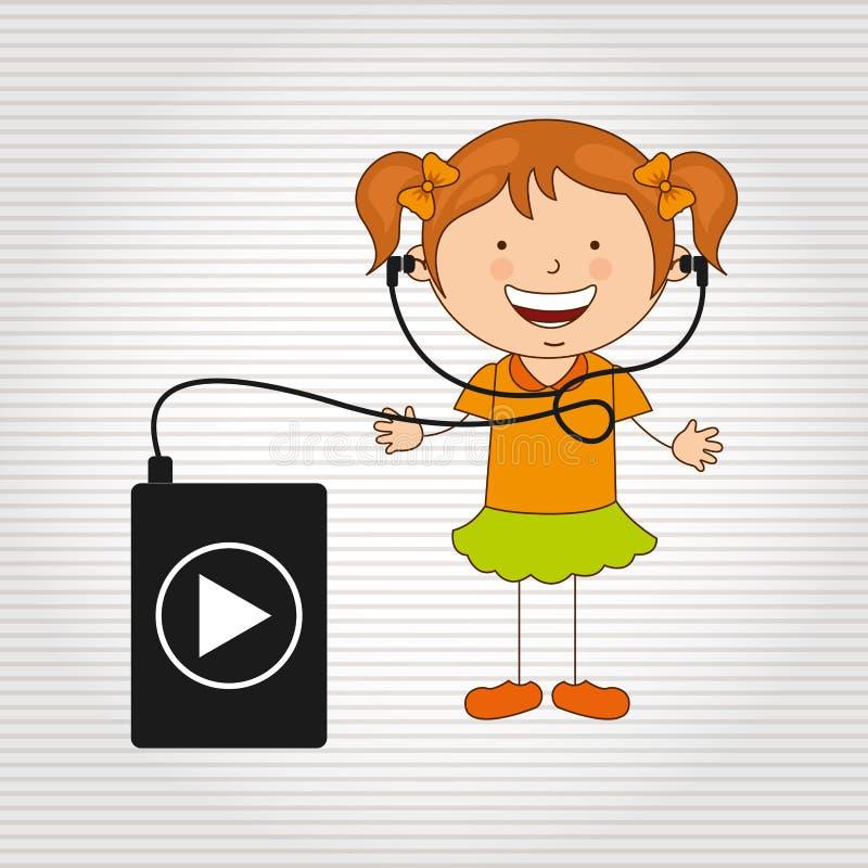 Kinderen en technologieontwerp royalty-vrije illustratie