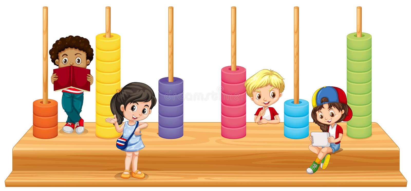 Kinderen en wiskundespel vector illustratie