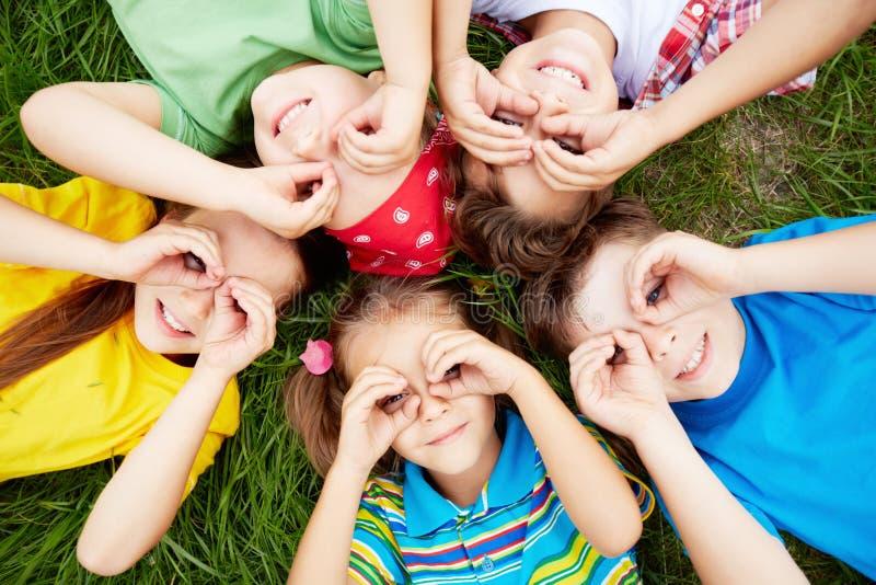 Kinderen het rusten royalty-vrije stock foto