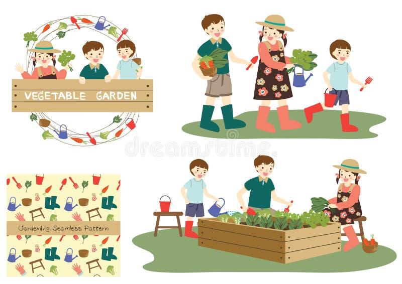 Kinderen het tuinieren vector illustratie