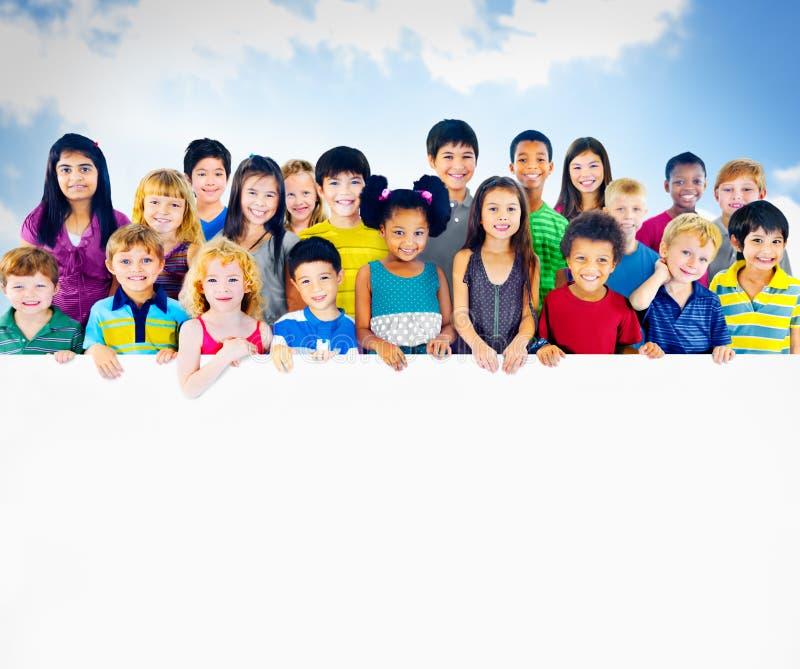 Kinderen het Vrolijke het Bestuderen Concept van de Onderwijskennis stock fotografie