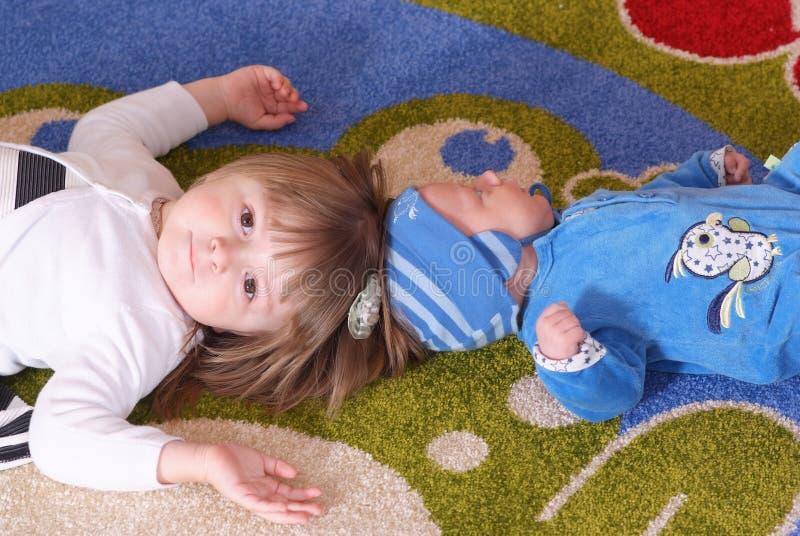 Kinderen in kinderdagverblijf royalty-vrije stock fotografie