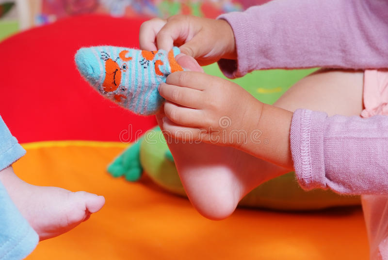 Kinderen in kinderdagverblijf royalty-vrije stock foto's