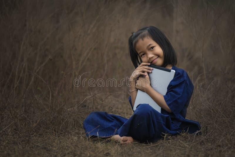 Kinderen met Laptop stock fotografie