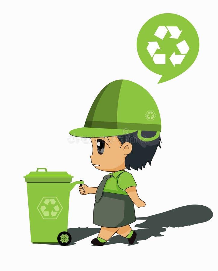 Kinderen om te recycleren vector illustratie