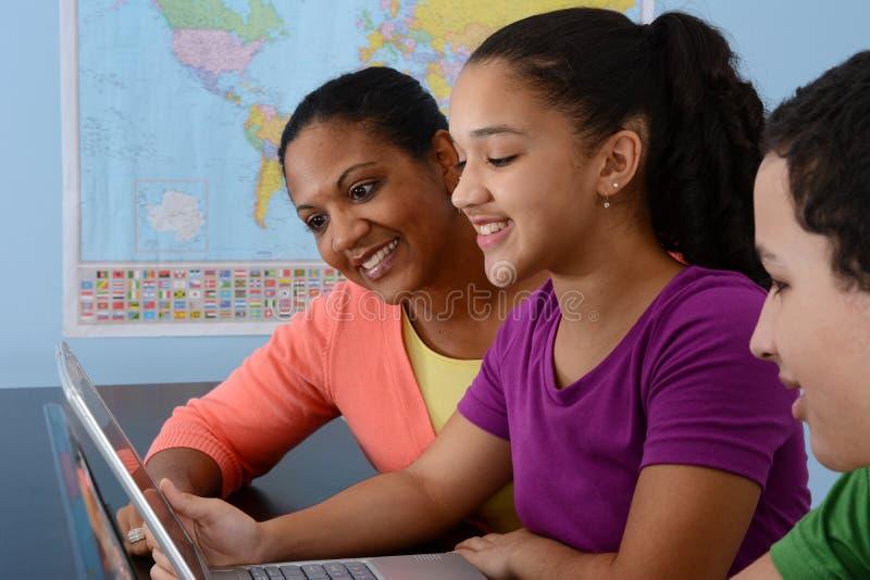 Kinderen op School stock foto