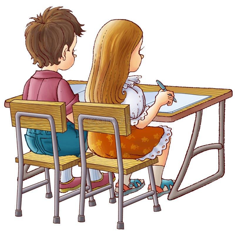 Kinderen op school stock illustratie