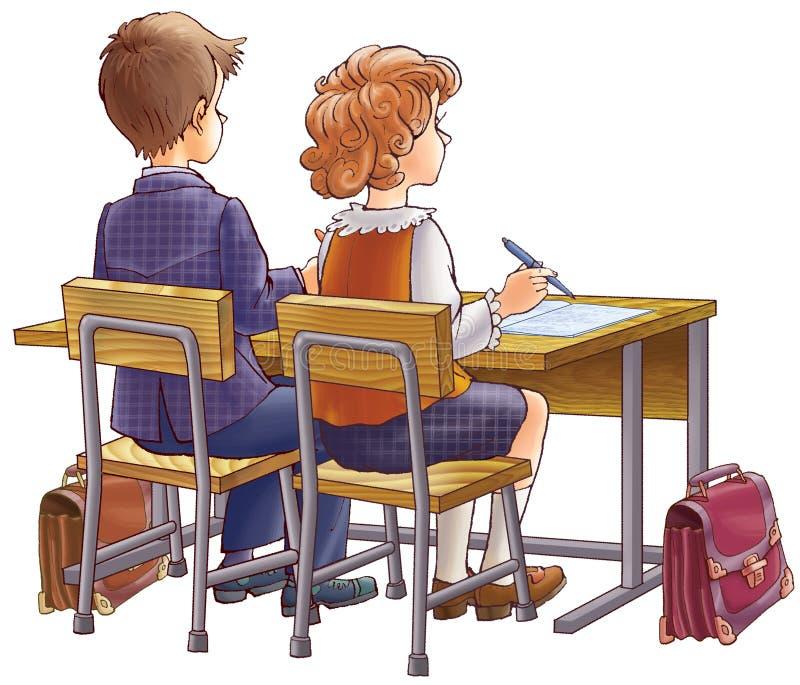 Kinderen op school royalty-vrije illustratie