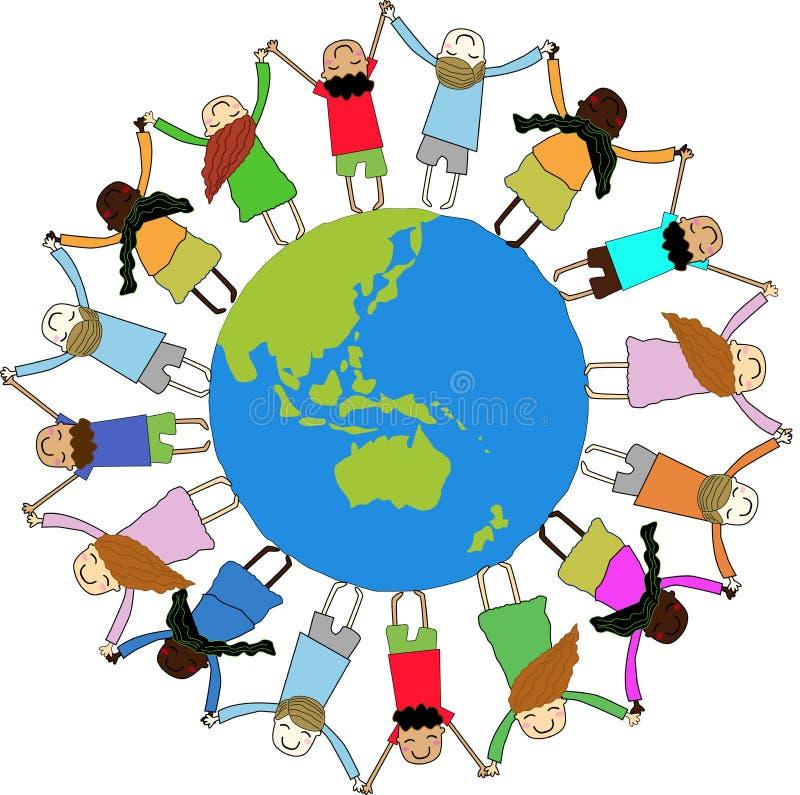 Kinderen rond de Wereld royalty-vrije illustratie