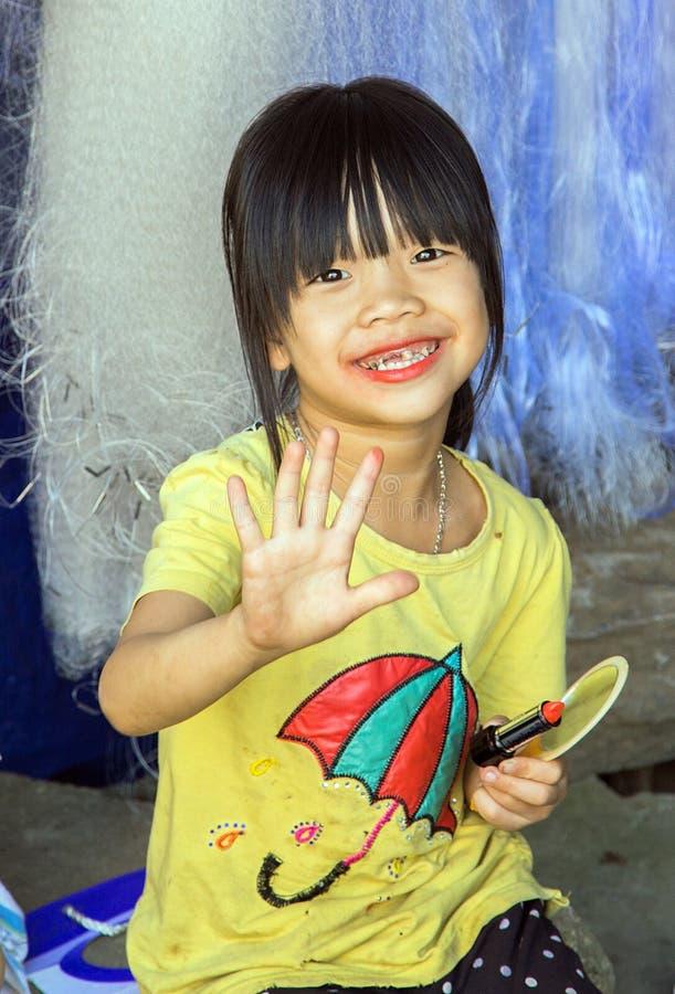 Kinderen Sapa, Lao Cai, Vietnam royalty-vrije stock afbeeldingen