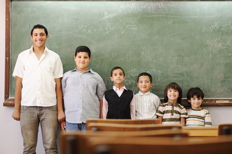 Kinderen in school, van kleuterschool, peuter royalty-vrije stock fotografie