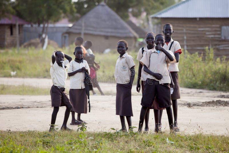 Kinderen van de zuiden de Soedanese school royalty-vrije stock fotografie