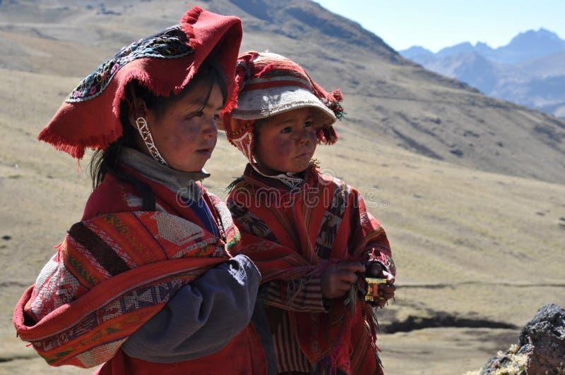 Kinderen van Peru royalty-vrije stock afbeeldingen