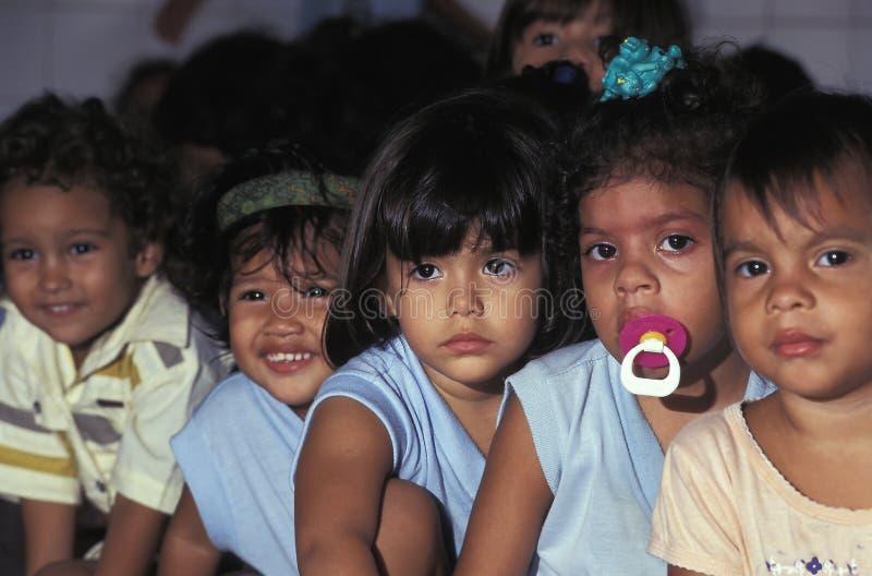 Kinderen van verschillende etnische groepen, Brazilië stock afbeeldingen