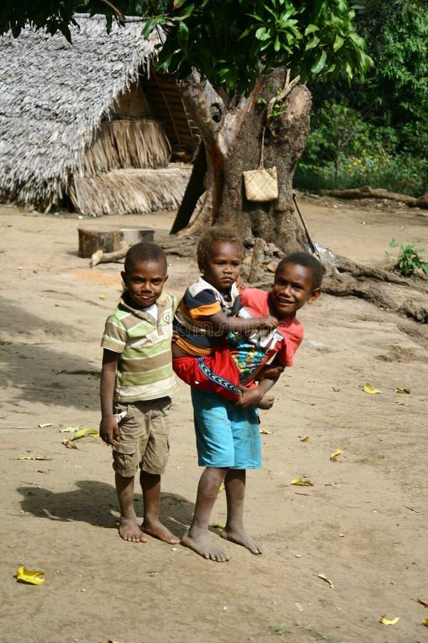 Kinderen in Vanuatu royalty-vrije stock foto's