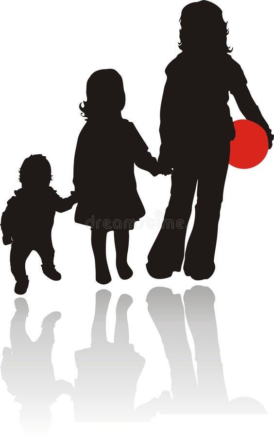 Kinderen. Vector royalty-vrije illustratie