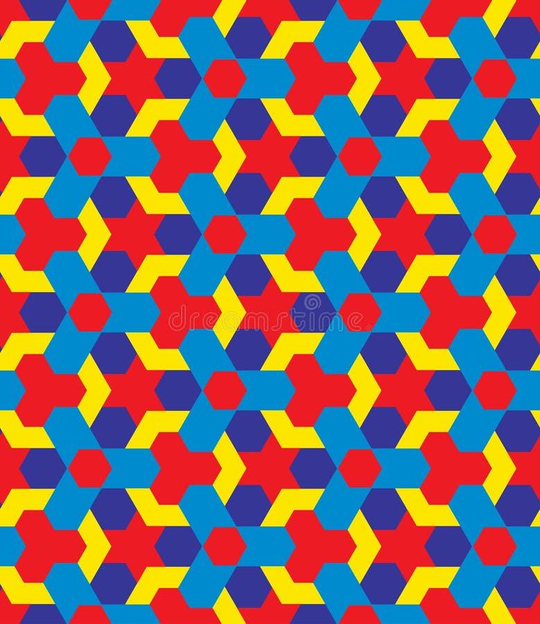 Kinderen veelkleurig decoratief naadloos geometrisch patroon vector illustratie