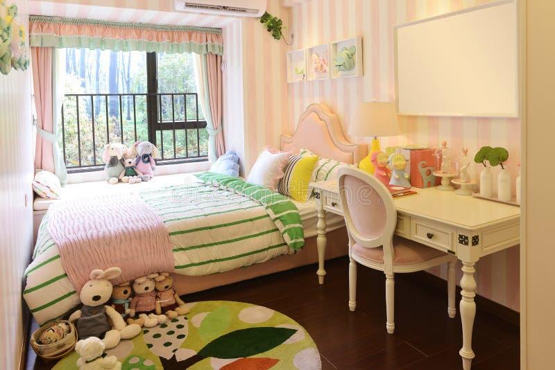 Kinderenslaapkamer royalty-vrije stock afbeelding
