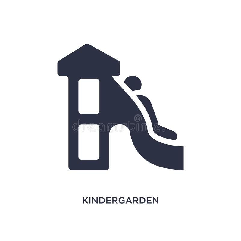 Kindergarden icon on white background. Simple element illustration from kid and baby concept. Kindergarden icon. Simple element illustration from kid and baby vector illustration