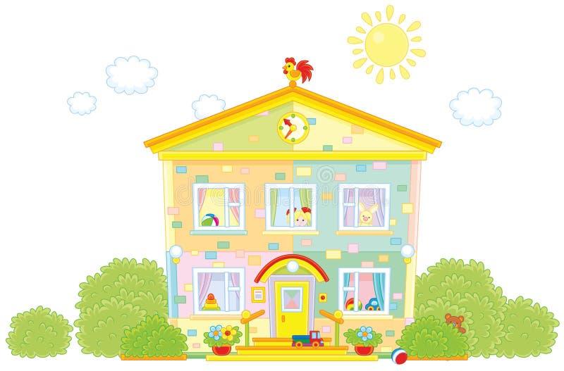 kindergarten stock de ilustración