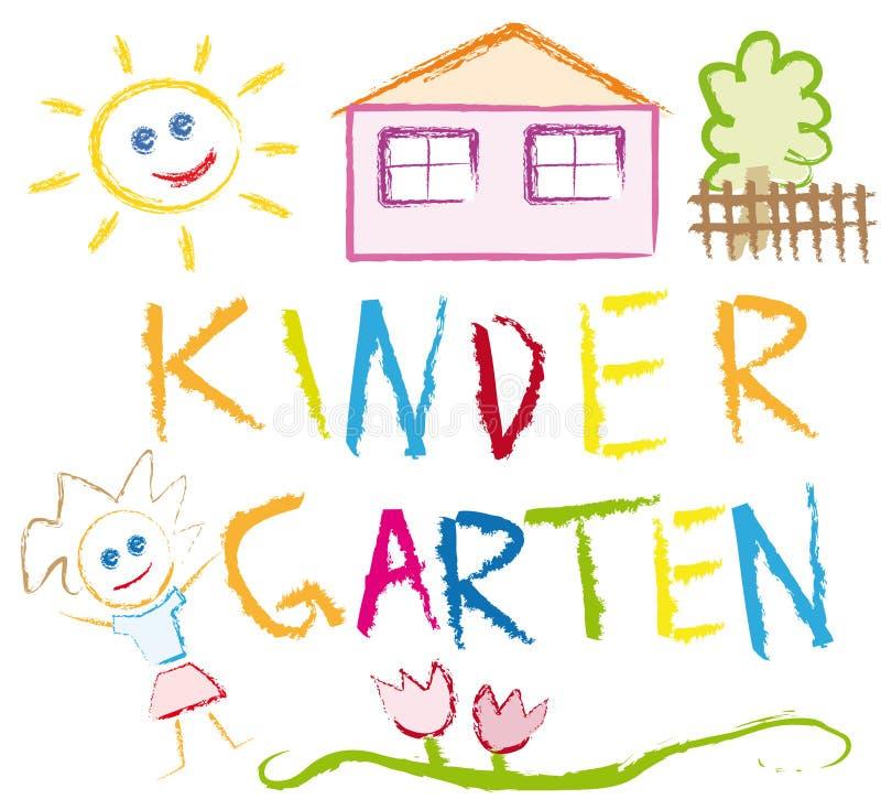 Kindergarten stock illustration