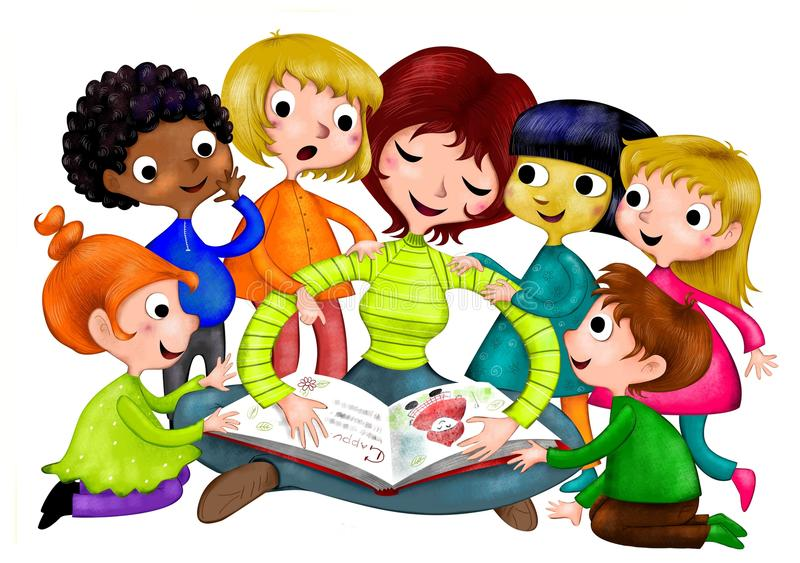 Kindergarten stock abbildung
