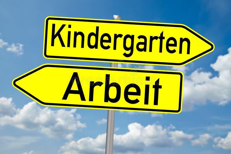 Kindergarten lizenzfreie abbildung