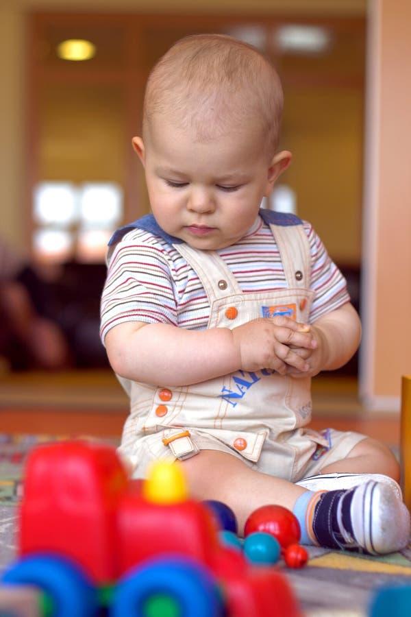 In the kindergarten stock photos