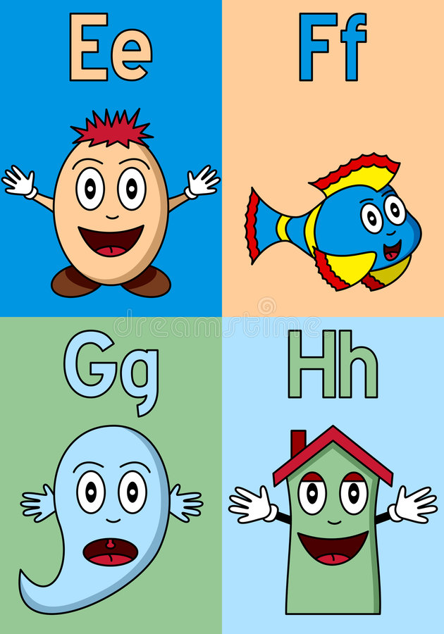 Download Kindergarten Alphabet E-H stock vector. Illustration of elementary - 8841396
