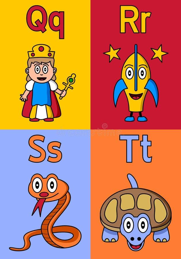 Kindergarten Alphabet Q-T