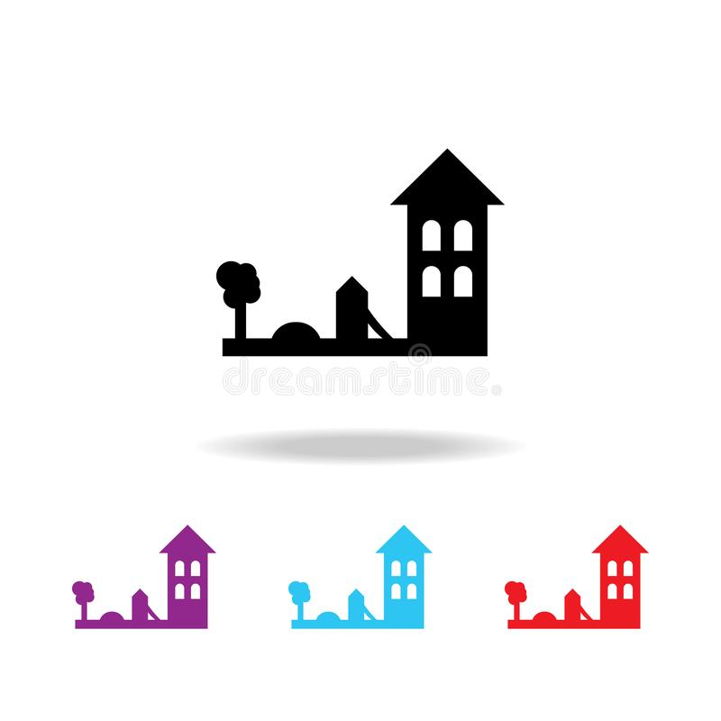 Kindergarten building icon. Elements of building in multi colored icons for mobile concept and web apps. Icons for website design vector illustration