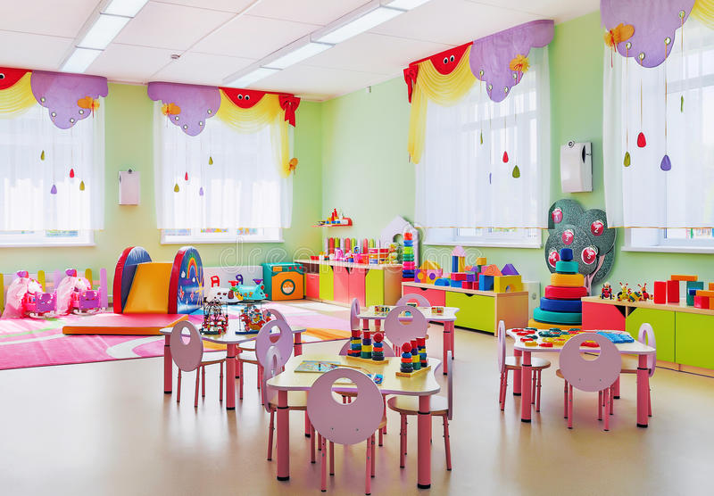 Kindergarten, game room. royalty free stock photography