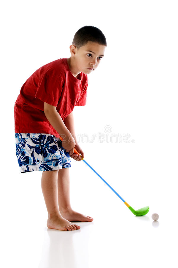 Download Kindergarten Golf stock photo. Image of concentrate, white - 15333738