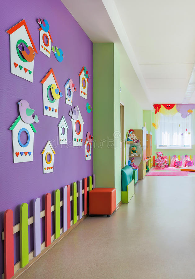 Kindergarten, Hall. royalty free stock photography