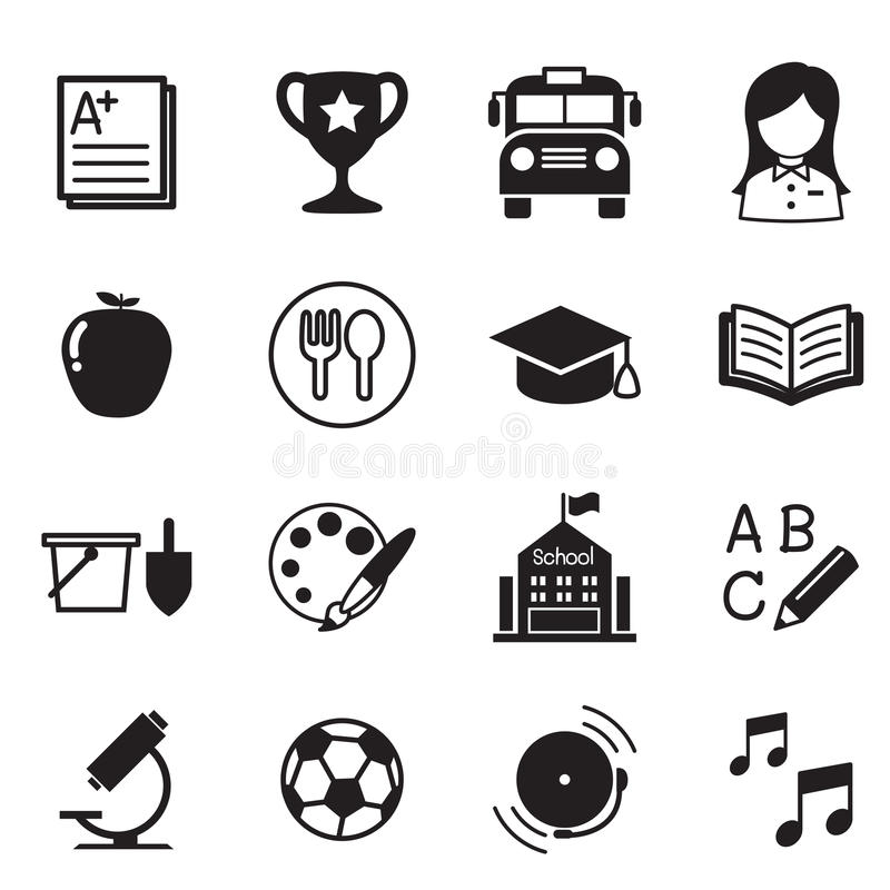 Kindergarten school education icons Vector Illustration Symbol. Graphic design vector illustration