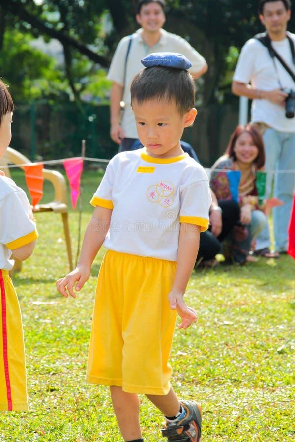 Kindergarten sport day stock photos
