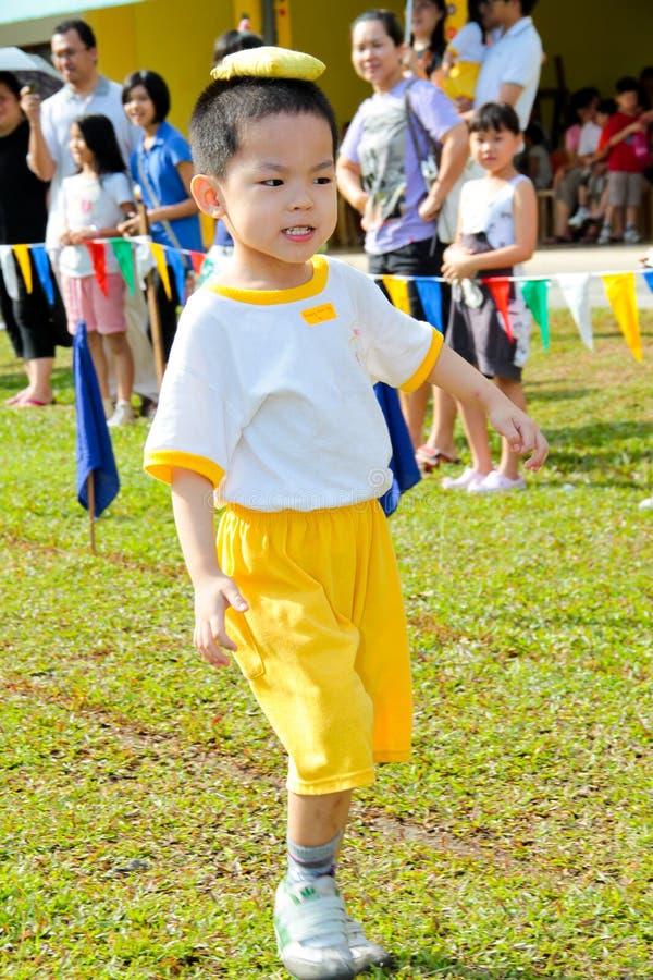 Kindergarten sport day stock photography