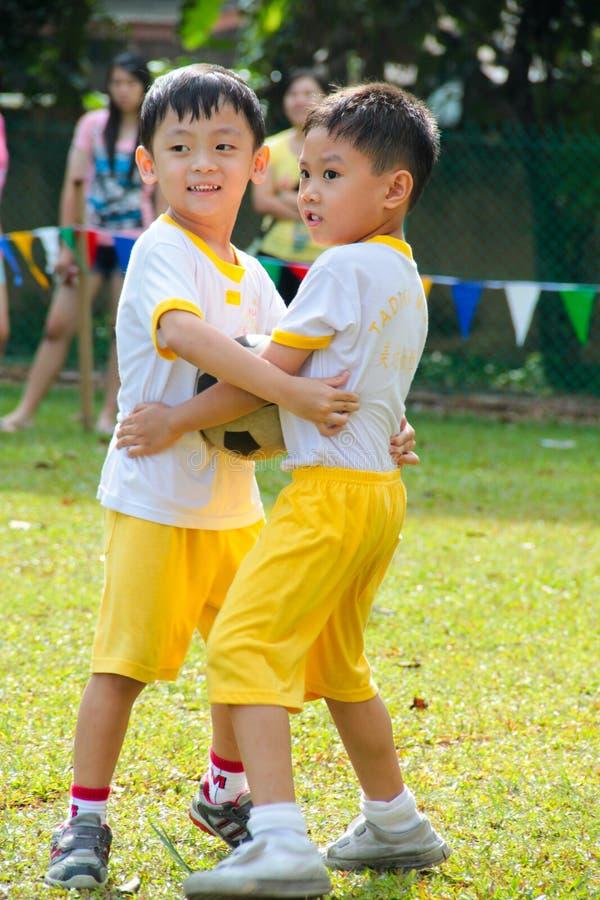 Kindergarten sport day stock photo