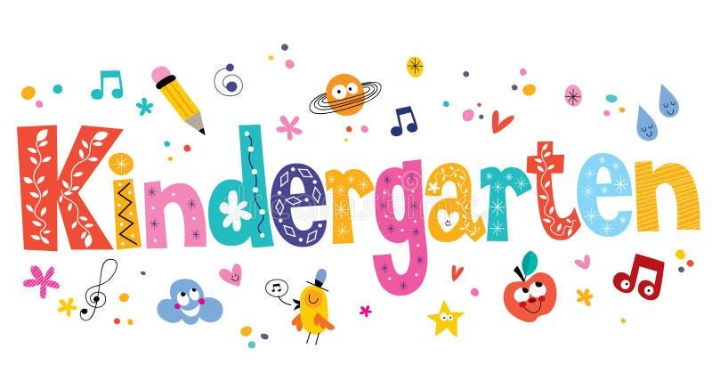 Vector Drawing Lines Kindergarten : Kindergarten stock vector illustration of children