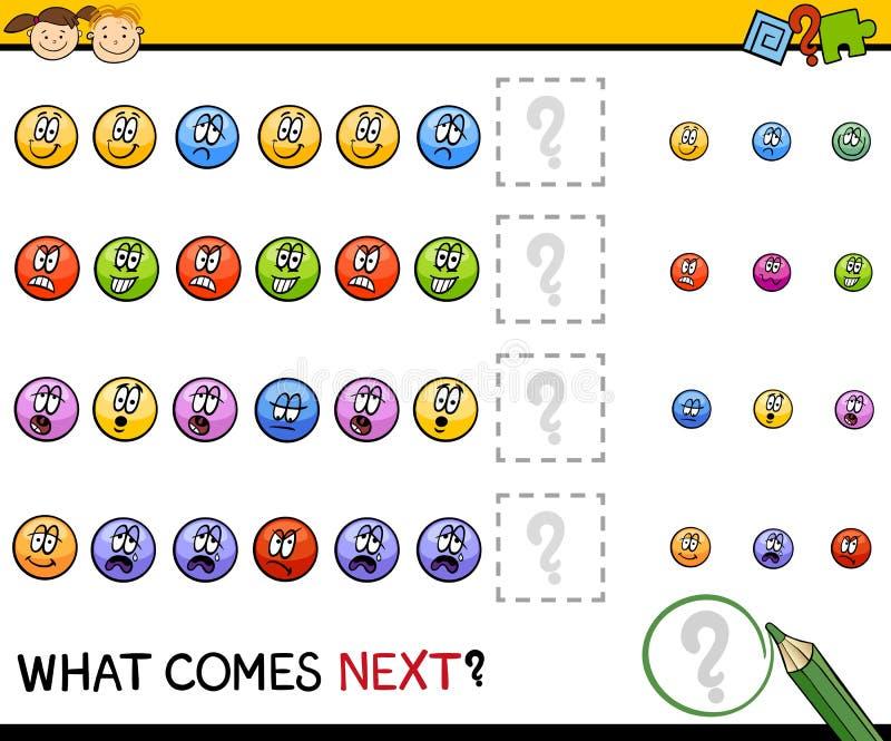 Kindergartenmusteraufgabe vektor abbildung