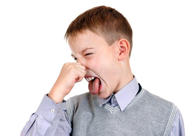 Kindergefühl ein Gestank lizenzfreies stockbild