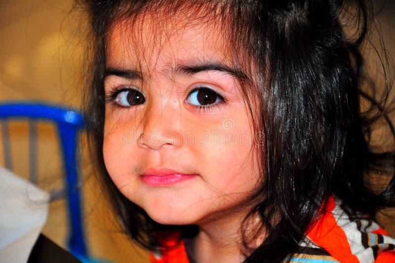 Kindergesicht stockfoto