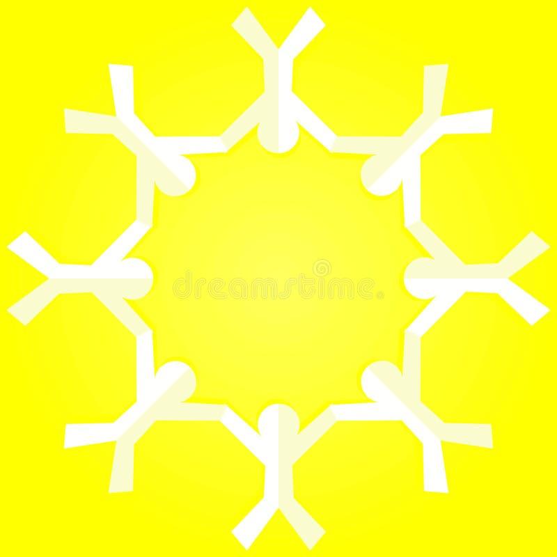 Kinderhändchenhalteneinladungs-Kartenrahmen vektor abbildung