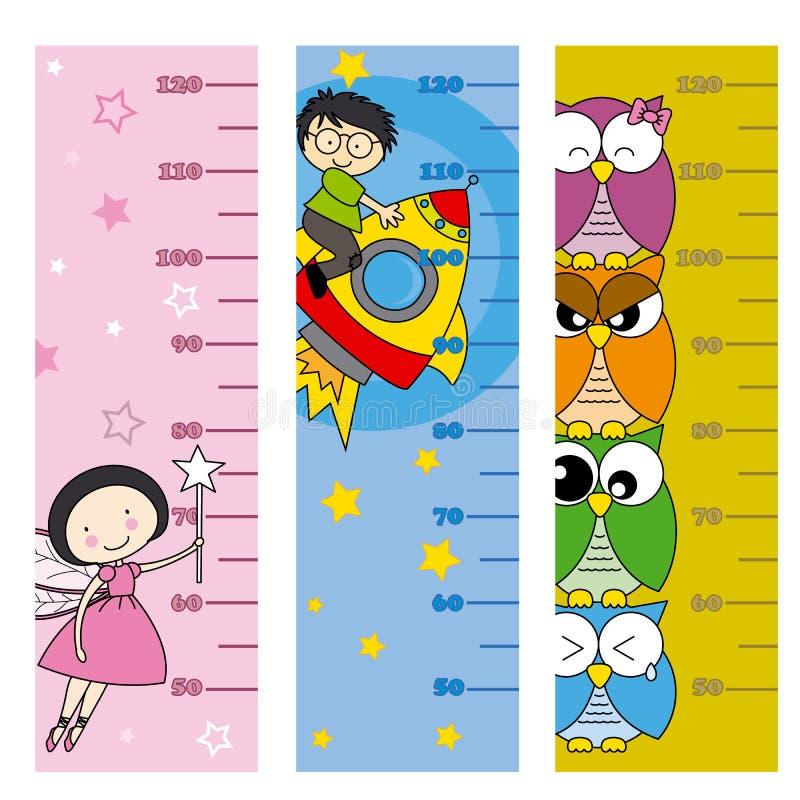 Kinderhöhenmeter stock abbildung