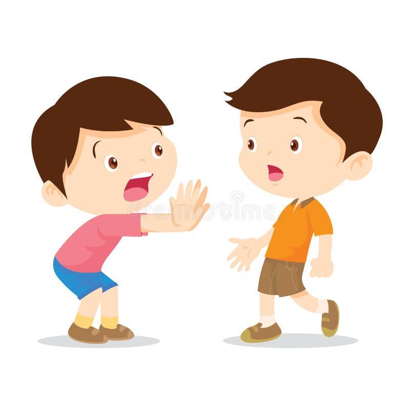 Kinderhandhalt vektor abbildung