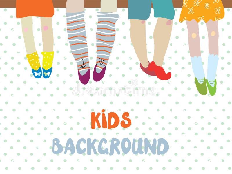 Kinderhintergrund für Kindergartenfahne oder Karte - lustiges illust lizenzfreie abbildung