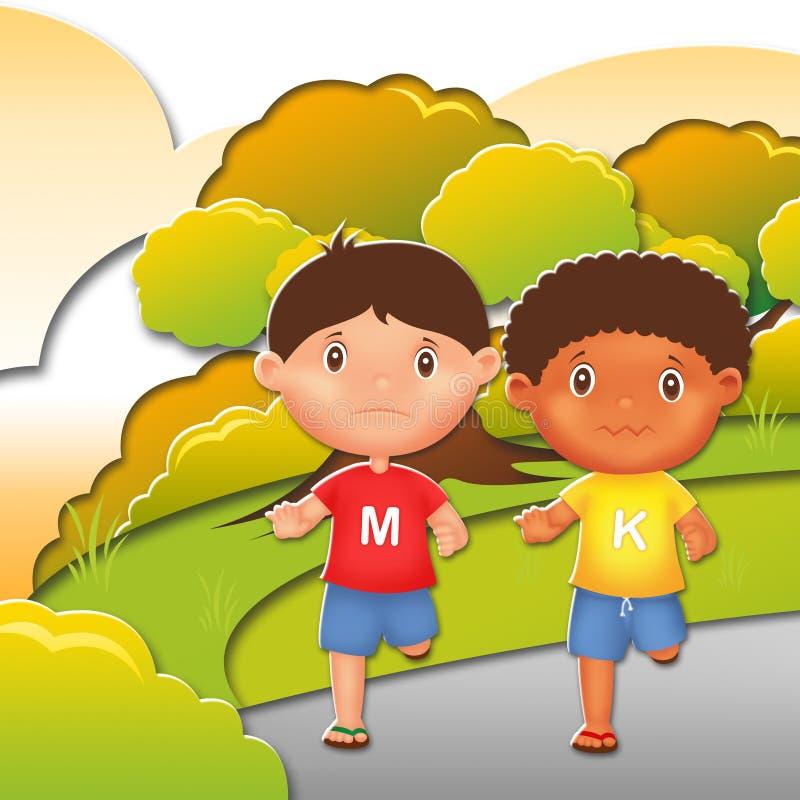 Kinderillustrations-Charakter lizenzfreies stockbild