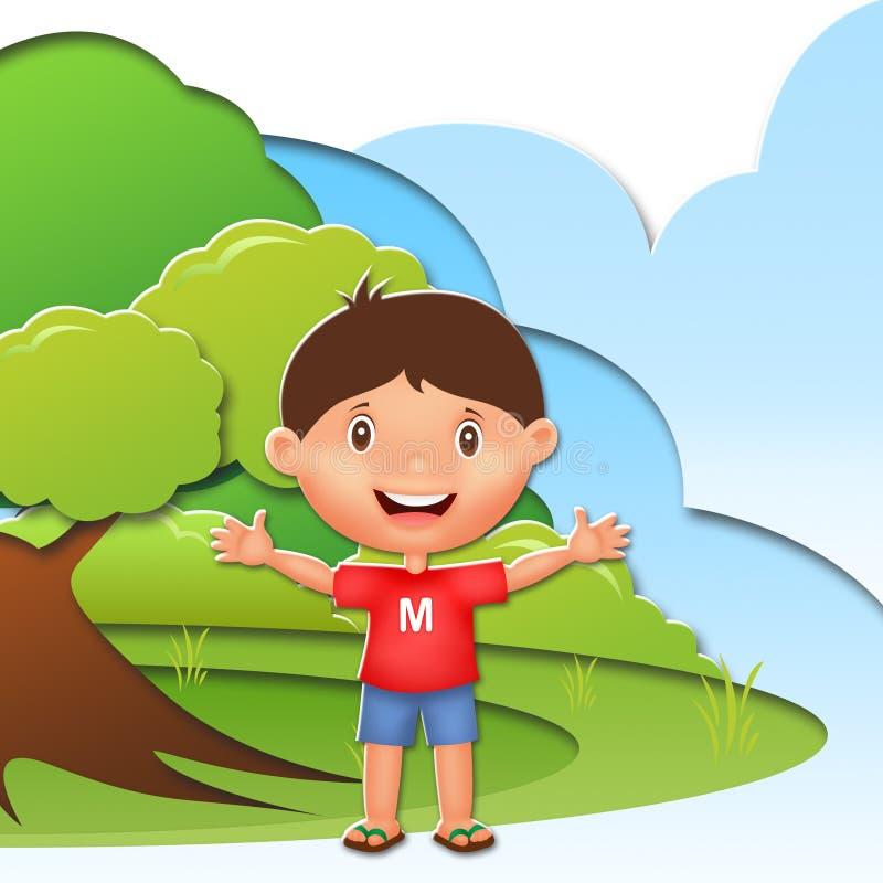 Kinderillustrations-Charakter stockfotografie