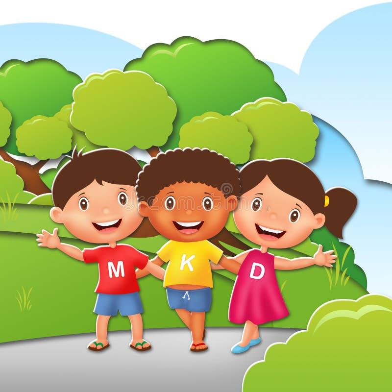 Kinderillustrations-Charakter lizenzfreie stockbilder